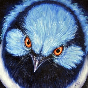 (CreativeWork) Blue Steel by Luna Vermeulen. oil-painting. Shop online at Bluethumb.