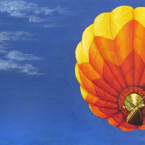 (CreativeWork) Aiming High - Hot Air Balloon by Jillian Crider. #<Filter:0x00007f9c5c39f788>. Shop online at Bluethumb.