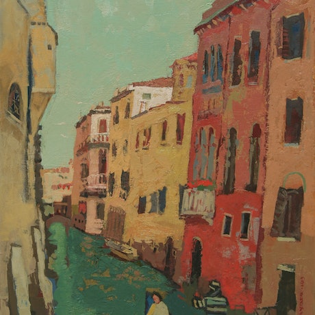 (CreativeWork) Gondola Ride by Tetyana Khytko. Acrylic Paint. Shop online at Bluethumb.