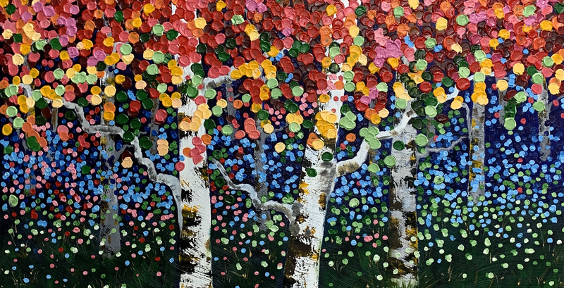 (CreativeWork) Aspen Colour by Tom Roso. Acrylic Paint. Shop online at Bluethumb.