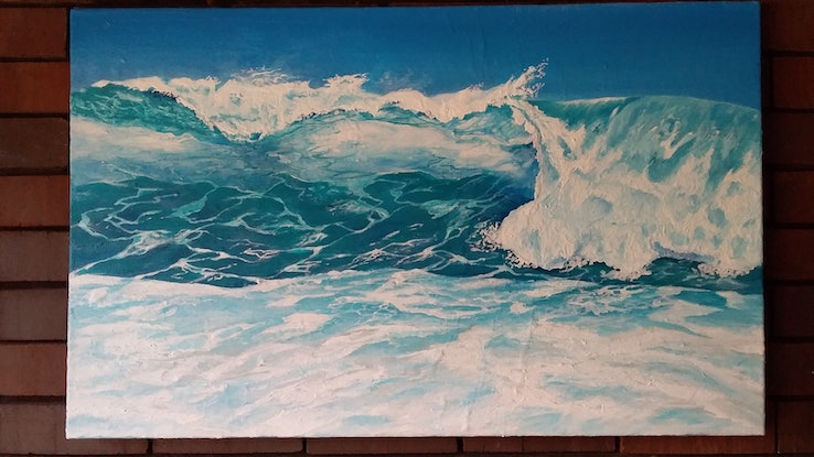 (CreativeWork) The Big Curl by Graham Gardiner. Acrylic Paint. Shop online at Bluethumb.