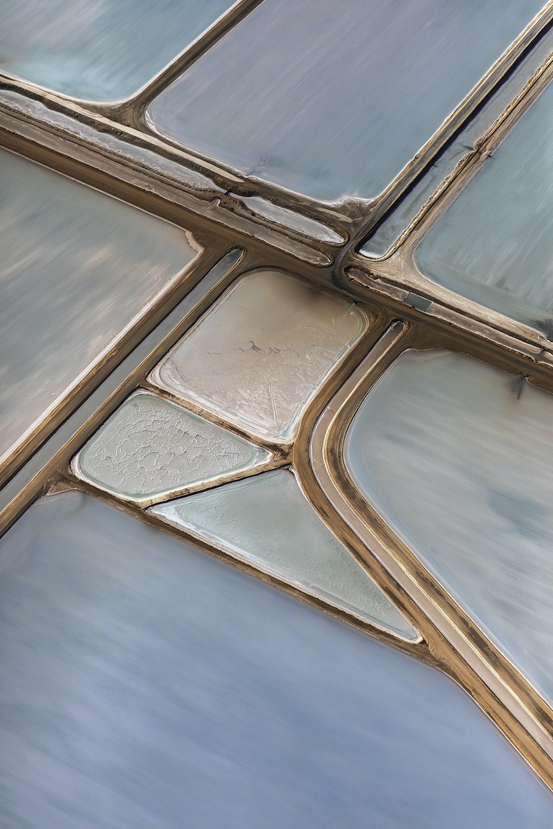 (CreativeWork) Abstract Aerial of Salt Farm Ed. 1 of 10 by Craig Hammersley. Photograph. Shop online at Bluethumb.