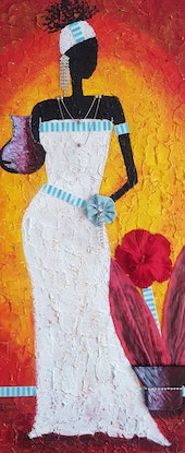 (CreativeWork) African Beauty mixed media, collage, Strong African women, series 1 by Sylvia Nobes. Mixed Media. Shop online at Bluethumb.