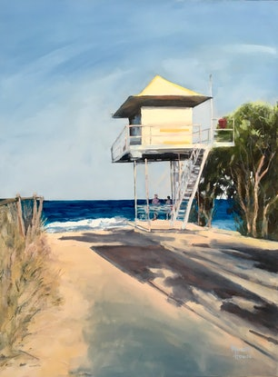(CreativeWork) Lifeguards by Meredith Howse. Acrylic Paint. Shop online at Bluethumb.
