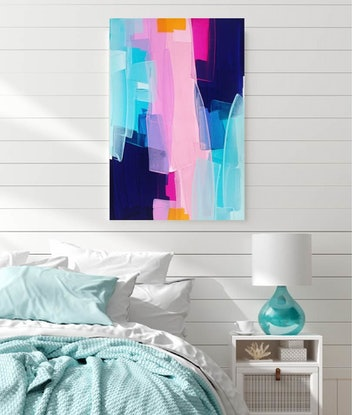(CreativeWork) The Night Is Young by Maggi McDonald. Acrylic Paint. Shop online at Bluethumb.