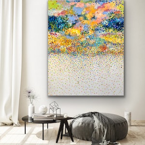 (CreativeWork) Clouds  of Petals   by Theo Papathomas. acrylic-painting. Shop online at Bluethumb.