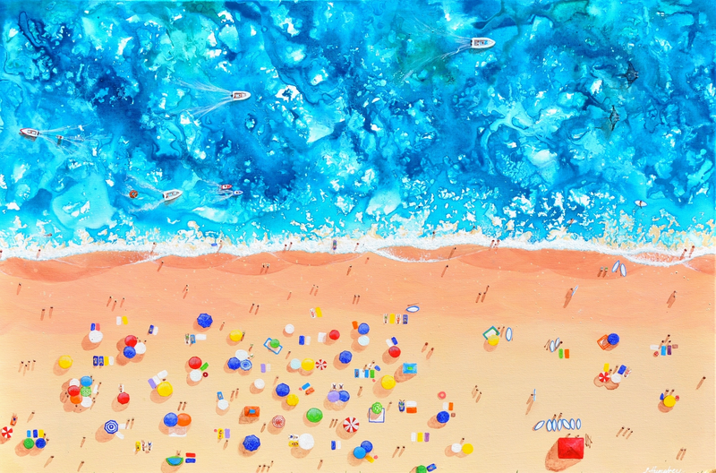 (CreativeWork) Heat Wave by Lisa Humphrey. Acrylic Paint. Shop online at Bluethumb.