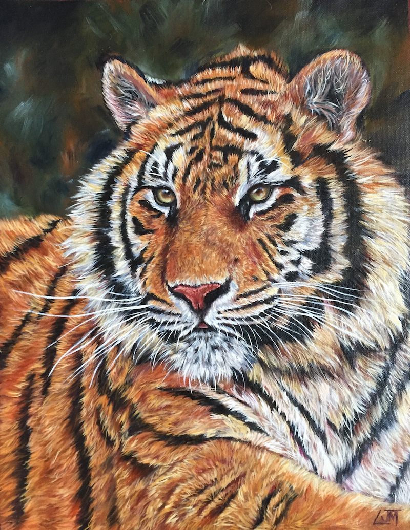 (CreativeWork) Burning Bright by Lucy Mengler. Oil Paint. Shop online at Bluethumb.