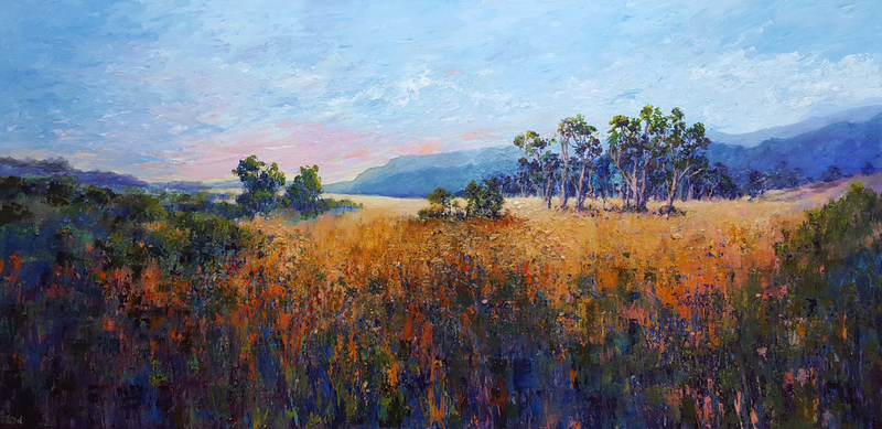 (CreativeWork) Willowmavin Wandering II by Helen Miles. Acrylic Paint. Shop online at Bluethumb.