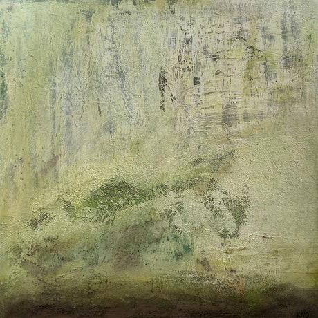 (CreativeWork) Misty Moss Valley by Kristine McDonough. Mixed Media. Shop online at Bluethumb.
