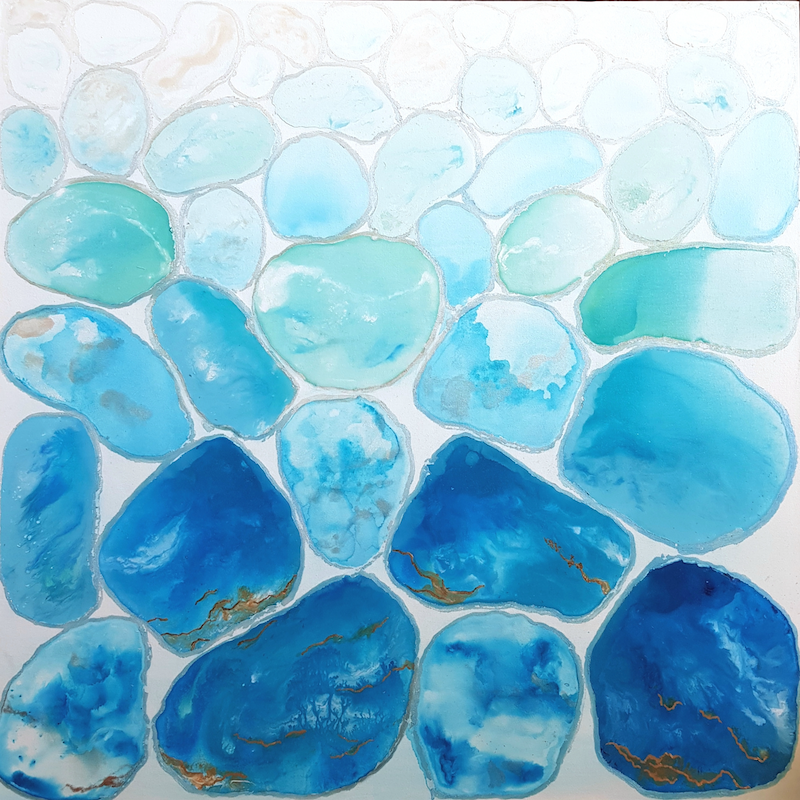 (CreativeWork) Fluidity of Life by Tracy Chalk. Mixed Media. Shop online at Bluethumb.