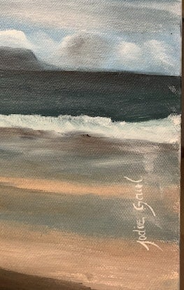(CreativeWork) Storm brewing by Jodie Gaul. Oil Paint. Shop online at Bluethumb.