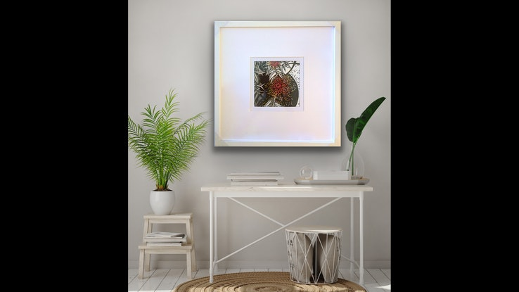 (CreativeWork) Red Native Spray by Tania Daymond. Drawings. Shop online at Bluethumb.