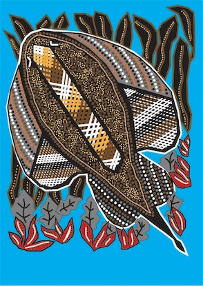 (CreativeWork) stingray art by shane youngberry. Other Media. Shop online at Bluethumb.