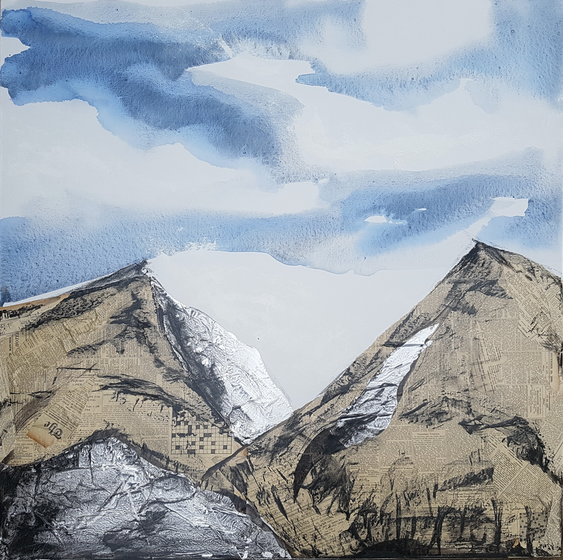 (CreativeWork) Scree and Shale by Laurie Franklin. Drawings. Shop online at Bluethumb.