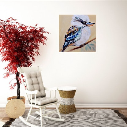 (CreativeWork) Sitting Pretty by Emilia Rebelo. Acrylic Paint. Shop online at Bluethumb.