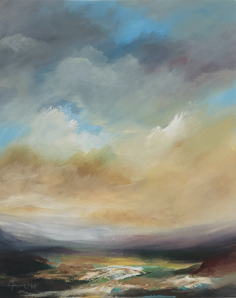 (CreativeWork) Sweeping Valley by Joanne Duffy. Oil Paint. Shop online at Bluethumb.