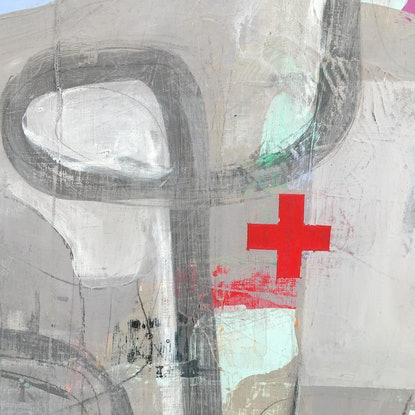 (CreativeWork) Road to Recovery by Angelea Van Dam. Mixed Media. Shop online at Bluethumb.