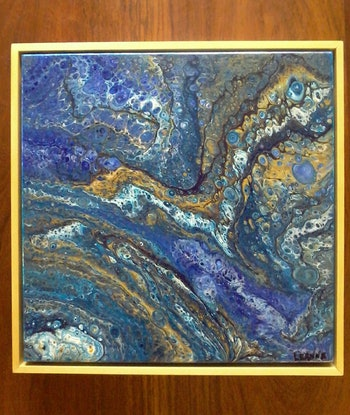 (CreativeWork) Jewels of the deep by Leanne Lauder. Acrylic Paint. Shop online at Bluethumb.