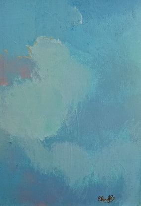 """(CreativeWork)  """"Quiet Please"""" by Eleni Kokkinos. Acrylic Paint. Shop online at Bluethumb."""