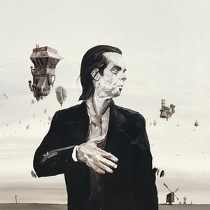 (CreativeWork) Nick Cave  by Ben Tankard. acrylic-painting. Shop online at Bluethumb.