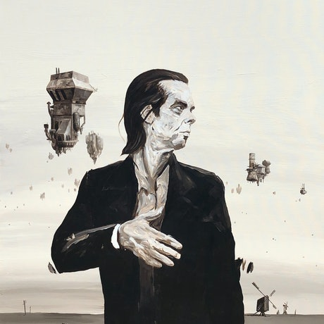 (CreativeWork) Nick Cave  by Ben Tankard. Acrylic Paint. Shop online at Bluethumb.