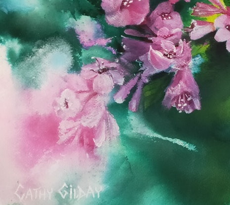 (CreativeWork) Pretty in Pink by Cathy Gilday. Other Media. Shop online at Bluethumb.