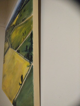 (CreativeWork) Canola by Kylie van Tol. Acrylic Paint. Shop online at Bluethumb.