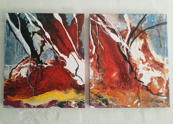 (CreativeWork) Wolf Creek by William Holt. Acrylic Paint. Shop online at Bluethumb.