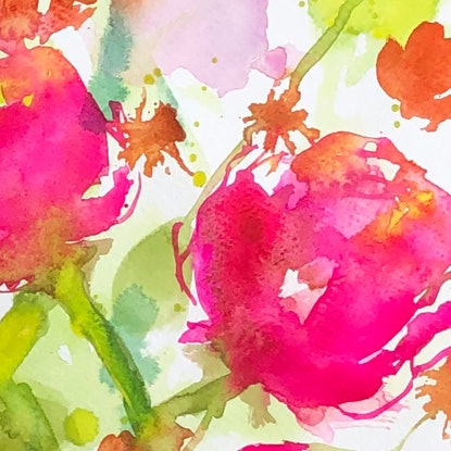 (CreativeWork) Young Love by Jill Bryant. Watercolour Paint. Shop online at Bluethumb.