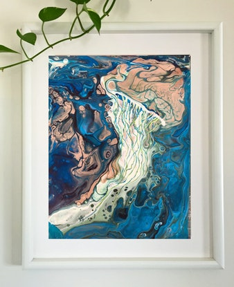 (CreativeWork) Mystery of the Sea by Marta Blaszak-Just. Mixed Media. Shop online at Bluethumb.