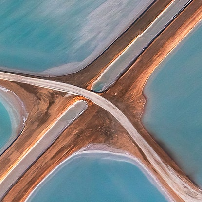 (CreativeWork) Abstract Aerial of Salt Farm 3 Ed. 1 of 10 by Craig Hammersley. Photograph. Shop online at Bluethumb.