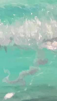 (CreativeWork) Aqua Jelly by Pip Phelps. Acrylic Paint. Shop online at Bluethumb.