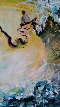 (CreativeWork) On the Edge by Debra Dougherty. Mixed Media. Shop online at Bluethumb.