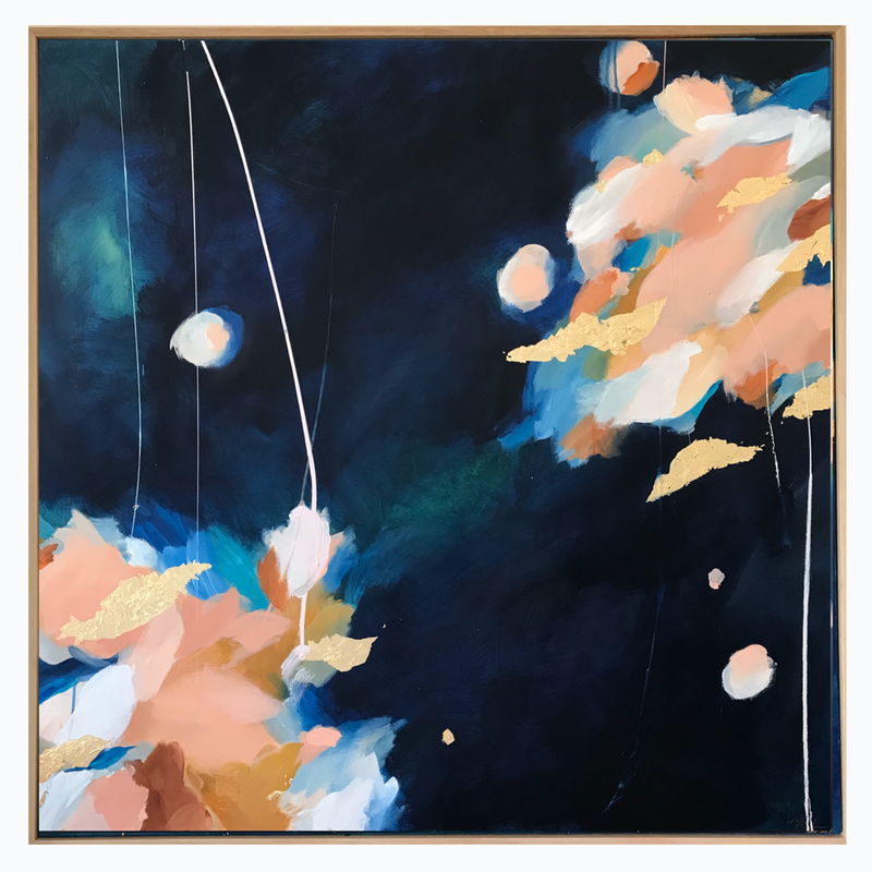 (CreativeWork) Cosmic Interlude  by Marnie McKnight. Acrylic Paint. Shop online at Bluethumb.