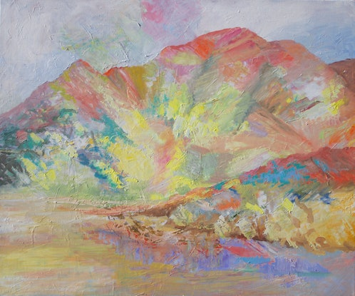 (CreativeWork) Brachina Gorge by Roland Weight. Oil Paint. Shop online at Bluethumb.