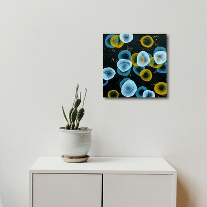 (CreativeWork) Orbicular Bloom VI – Original Painting by Jacquelyn Stephens. #<Filter:0x00007f10a0bf5fd8>. Shop online at Bluethumb.