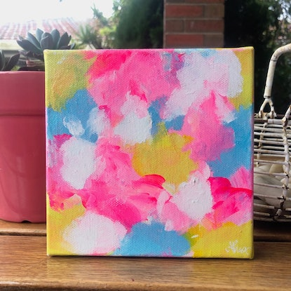 (CreativeWork) Sugar Rush 1 by Anna Pontikis. Acrylic Paint. Shop online at Bluethumb.