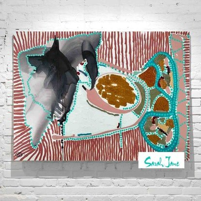 (CreativeWork) Australiana I - Australian Artist Sarah Jane by Sarah Jane __. Mixed Media. Shop online at Bluethumb.