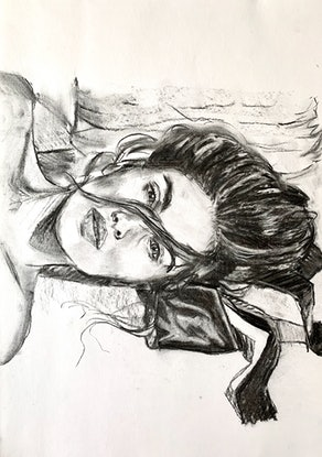 (CreativeWork) Arielle  by Holly Harper. Drawings. Shop online at Bluethumb.