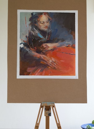 (CreativeWork) Not Quite Japanese by Tony Belobrajdic. Oil Paint. Shop online at Bluethumb.