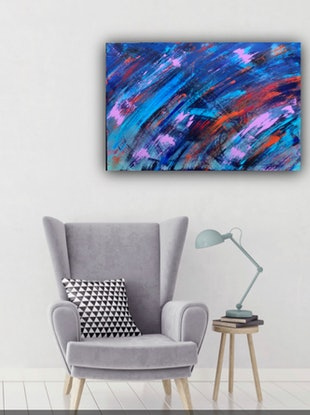 (CreativeWork) Rush by Chromatisme Artworks. Acrylic Paint. Shop online at Bluethumb.