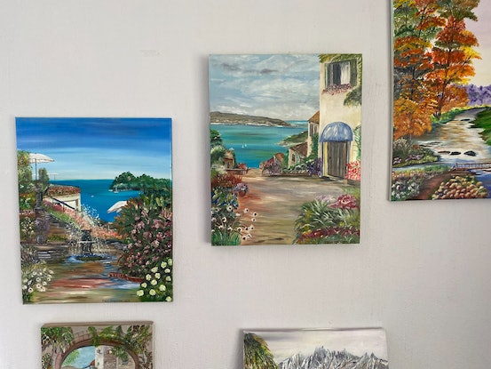 (CreativeWork) A Little piece of Italy (1) by Mary Preston. Oil Paint. Shop online at Bluethumb.