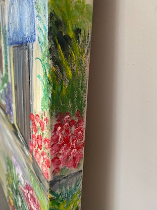 (CreativeWork) A Little piece of Italy (2) by Mary Preston. Oil Paint. Shop online at Bluethumb.