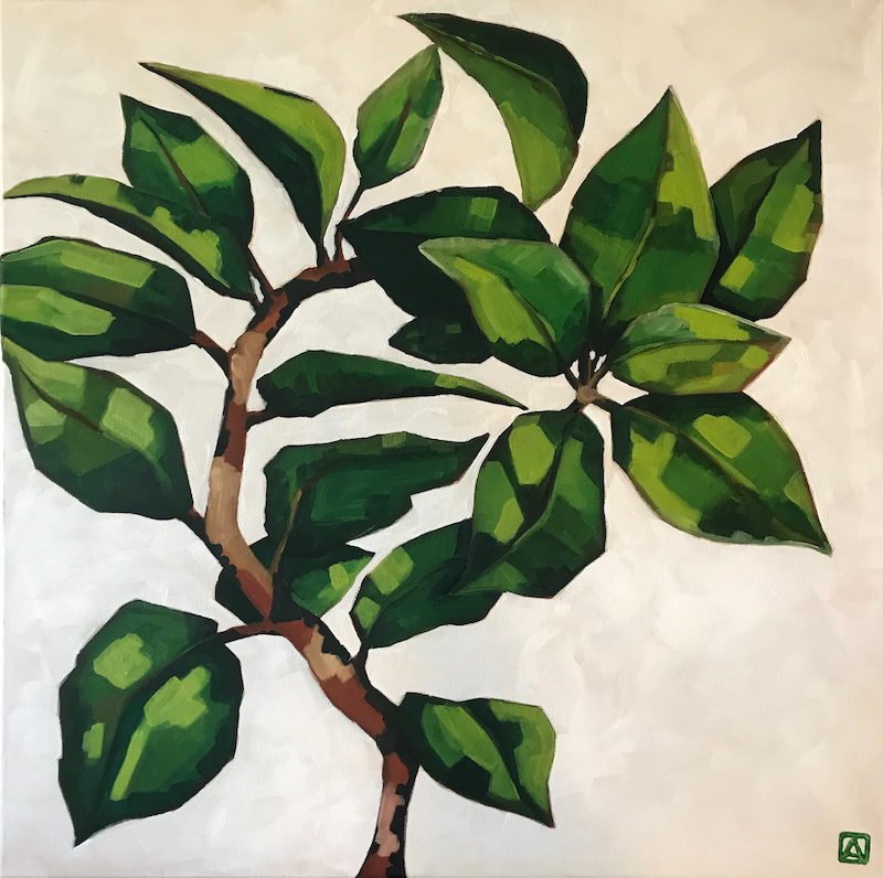 (CreativeWork) Foliage 5 by Antoinette Stokell. Oil Paint. Shop online at Bluethumb.