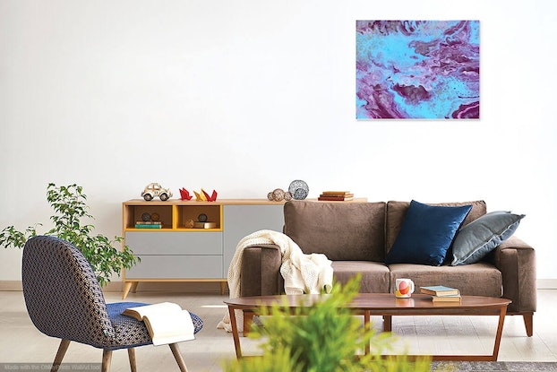 """(CreativeWork) """"Dolce"""" Abstract original painting  by Debra Ryan. Mixed Media. Shop online at Bluethumb."""