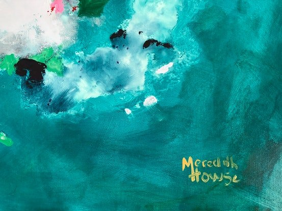 (CreativeWork) Opalescent Island by Meredith Howse. Acrylic Paint. Shop online at Bluethumb.
