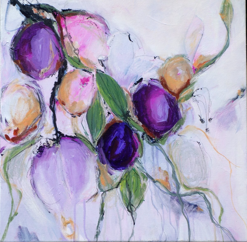 (CreativeWork) Flower Passion by Brenda Meynell. Acrylic Paint. Shop online at Bluethumb.