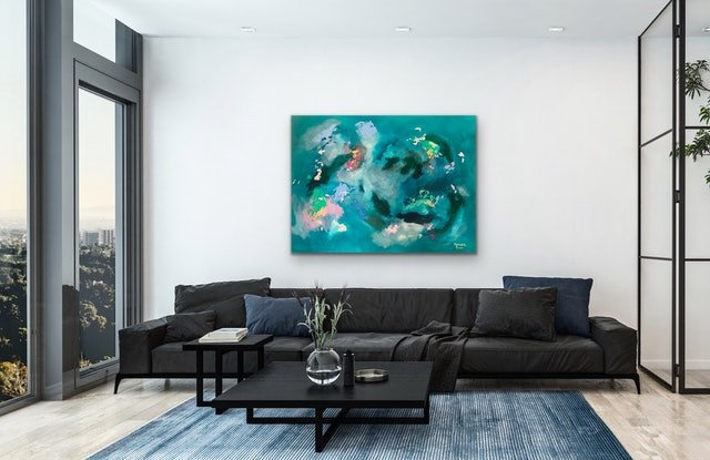 (CreativeWork) Opalescent  by Meredith Howse. Acrylic Paint. Shop online at Bluethumb.