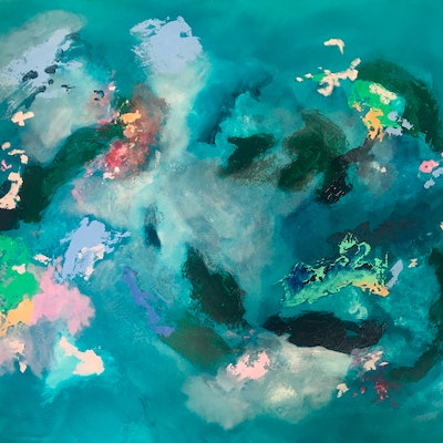 (CreativeWork) Opalescent  by Meredith Howse. acrylic-painting. Shop online at Bluethumb.